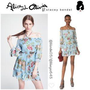 """Alice + Olivia """"Waylon"""" blouson sleeve dress 0"""